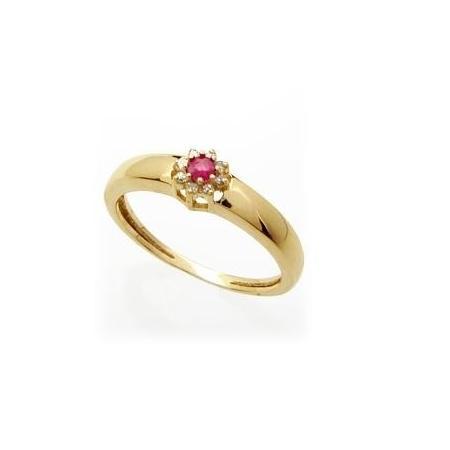 8021d1c4eb2 Anel Formatura Ouro 18k Diamantes e Rubi