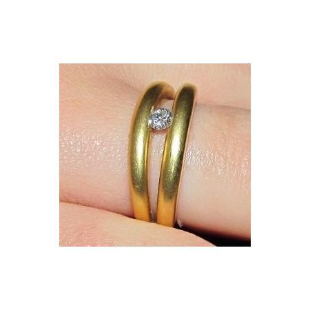 5ba116c891ad1 Anel Solitário Ouro 18k e Diamante 25 Pontos