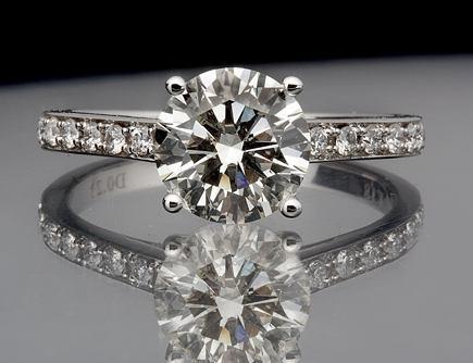 bd83df2094aa9 Anel Ouro Branco Solitário Diamante 25 Pontos